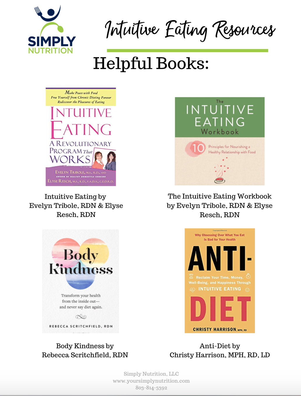 intuitive eating resources